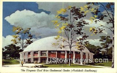 Virginia Civil War Centennial Center - Richmond Postcard