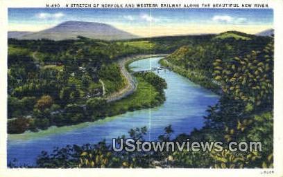 Stretch of Western RR - Norfolk, Virginia VA Postcard