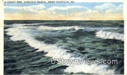 Heavy Sea Virginia Beach - Norfolk Postcard