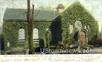 Old St Paul Church - Norfolk, Virginia VA Postcard