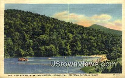 Cave Mountain - Natural Bridge, Virginia VA Postcard