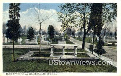Grave Of The Female Stranger  - Alexandria, Virginia VA Postcard