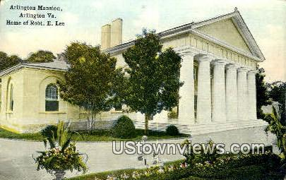 Arlington Mansion  - Virginia VA Postcard