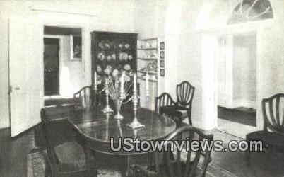 Family Dining Room Lee Mansion - Arlington, Virginia VA Postcard