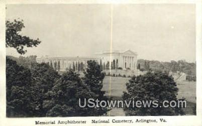 Memorial Amphitheater  - Arlington, Virginia VA Postcard