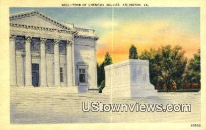 Tomb Of Unknown Soldier  - Arlington, Virginia VA Postcard