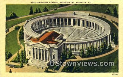 Arlington Memorial Amphitheatre - Virginia VA Postcard