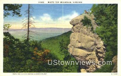 White Top Mountain, Virginia, VA, Postcard