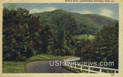 Mary's Rock  - Shenandoah National Park, Virginia VA Postcard