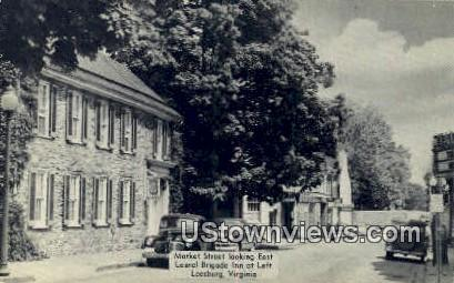 Market Street  - Leesburg, Virginia VA Postcard