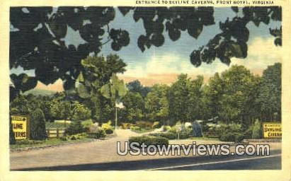 Entrance To Skyline Caverns  - Front Royal, Virginia VA Postcard