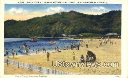 Beach  - Hungry Mother State Park, Virginia VA Postcard