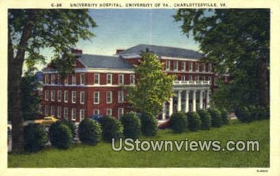 University Hospital  - Charlottesville, Virginia VA Postcard