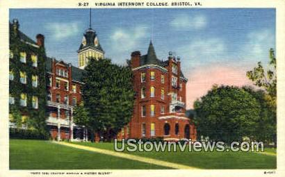 Virginia Intermont College  - Bristol Postcard
