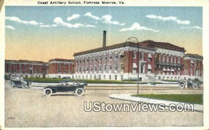 Coast Artillery School  - Fortress Monroe, Virginia VA Postcard