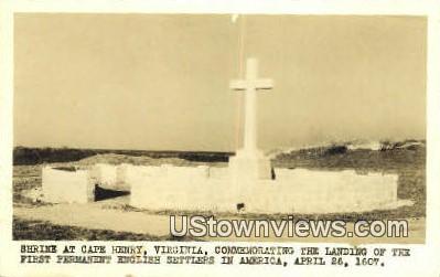 Shrine, Real Photo  - Cape Henry, Virginia VA Postcard