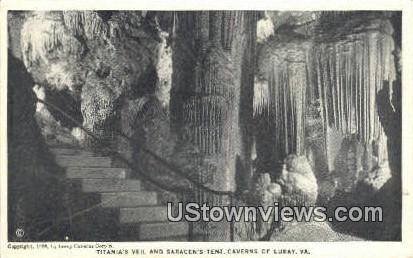 Titanias Veil And Saracens Tent  - Cavern Of Luray, Virginia VA Postcard