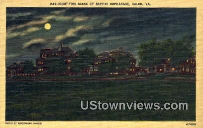 Baptist Orphanage  - Salem, Virginia VA Postcard