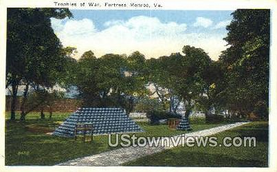 Trophies Of War  - Fortress Monroe, Virginia VA Postcard