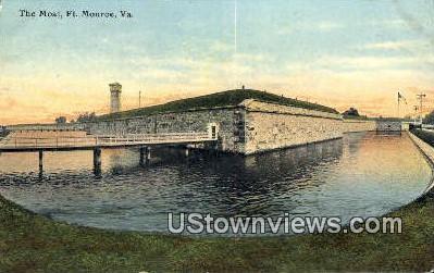 The Moat  - Fort Monroe, Virginia VA Postcard