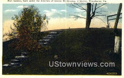 Fort London Direction of G Washington  - Winchester, Virginia VA Postcard