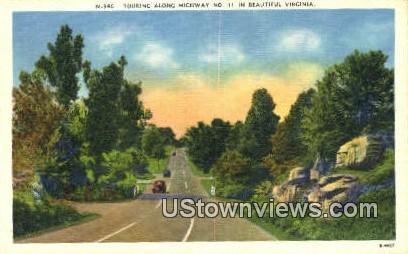 Touring Along The Highway  - Misc, Virginia VA Postcard