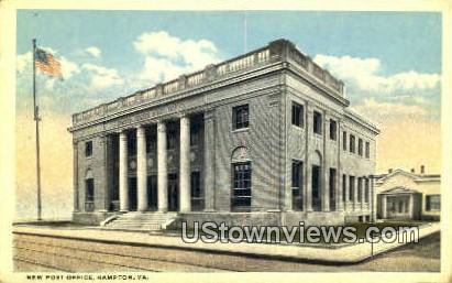New Post Office  - Hampton, Virginia VA Postcard