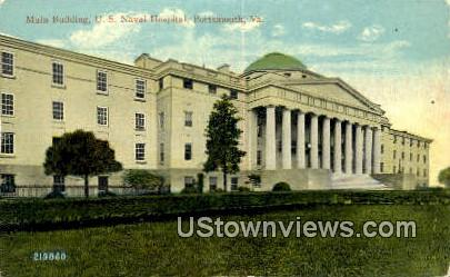 Main Building Naval Hospital  - Fortress Monroe, Virginia VA Postcard