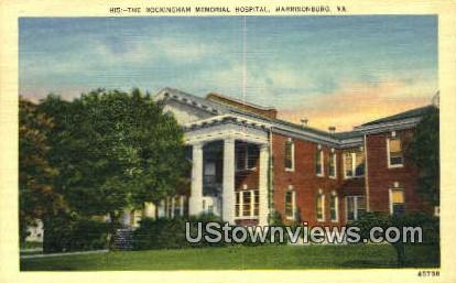 The Rockingham Memorial Hospital  - Harrisonburg, Virginia VA Postcard