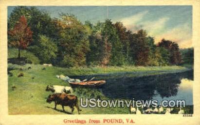 Greetings From - Pound, Virginia VA Postcard