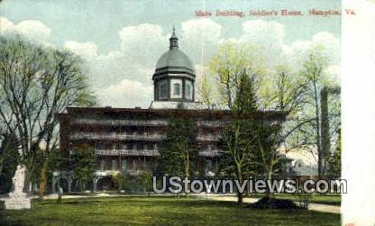 Main Building Soldiers Home  - Hampton, Virginia VA Postcard