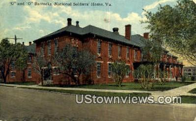G And O Barracks  - National Soldiers Home, Virginia VA Postcard