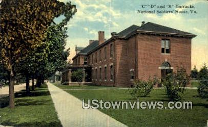 C D And S Barracks  - National Soldiers Home, Virginia VA Postcard