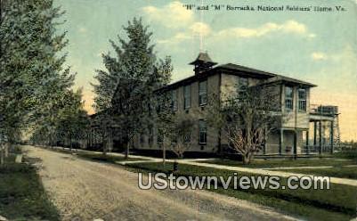 H And M Barracks  - National Soldiers Home, Virginia VA Postcard