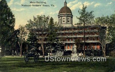Main Building  - National Soldiers Home, Virginia VA Postcard