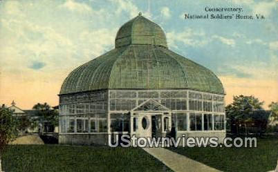 Conservatory  - National Soldiers Home, Virginia VA Postcard