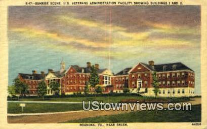 Veterans Administration Facility  - Roanoke, Virginia VA Postcard