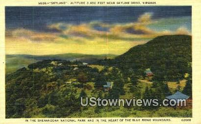 Sky Land  - Skyline Drive, Virginia VA Postcard