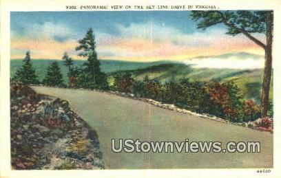 Panoramic  - Skyline Drive, Virginia VA Postcard