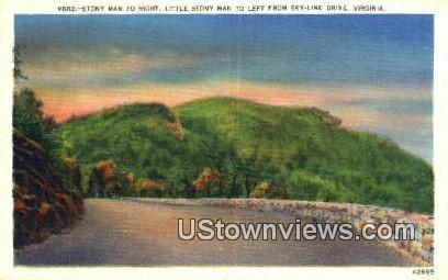 Stony Man And Little Stony Man  - Skyline Drive, Virginia VA Postcard