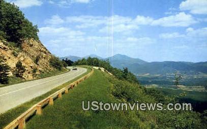 Blue Ridge Parkway, Virginia, VA, Postcard