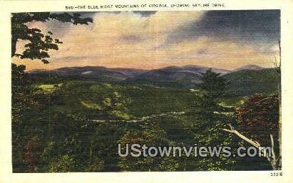 Blue Ridge Mountains, Virginia, VA, Postcard