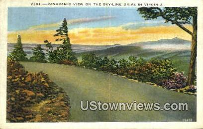 Panoramic View  - Skyline Drive, Virginia VA Postcard