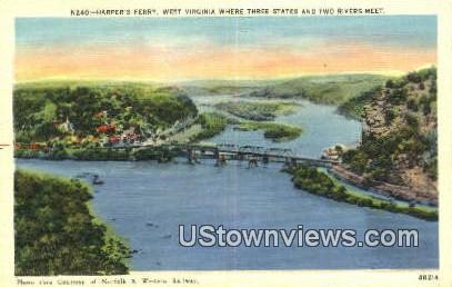 Harpers Ferry , Virginia, VA, Postcard
