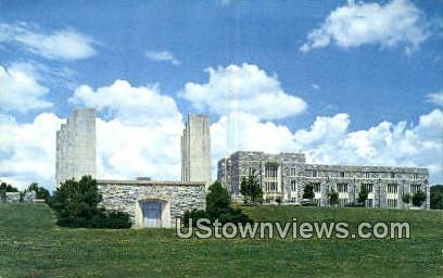 Memorial Court And Library  - Misc, Virginia VA Postcard