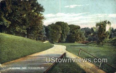 In Central Park  - Petersburg, Virginia VA Postcard