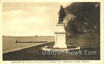 Monument To Captain John Smith  - Jamestown Island, Virginia VA Postcard