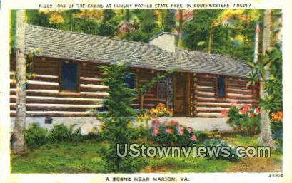 One Of The Cabins  - Hungry Mother State Park, Virginia VA Postcard