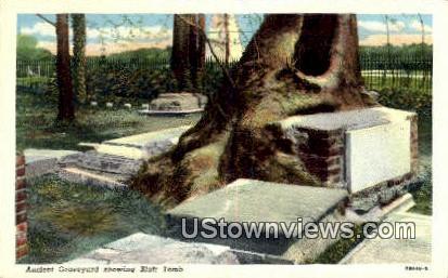Ancient Graveyard, Blair Tomb  - Jamestown, Virginia VA Postcard