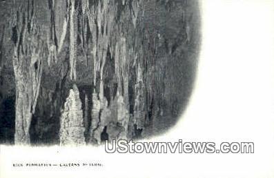 Rock Formation  - Cavern Of Luray, Virginia VA Postcard